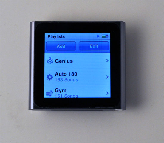 iPod nano playlists