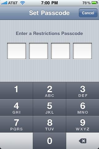 set-passcode