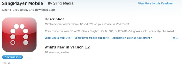 slingplayer1 SlingPlayer 3G Now Available For Download