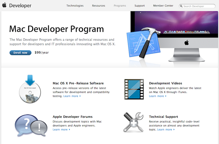 99 mac dev program Mac Developer License Drops In Price