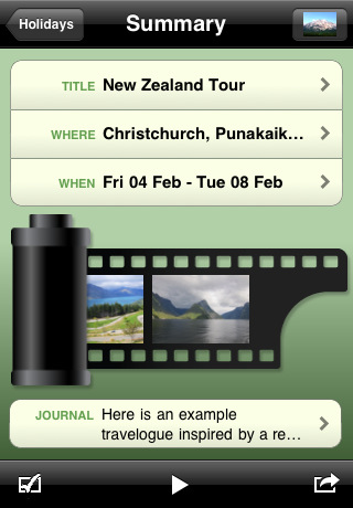 "App Review: ""My Vacation"" brings an easier way to scrapbook your trips to the iPhone"