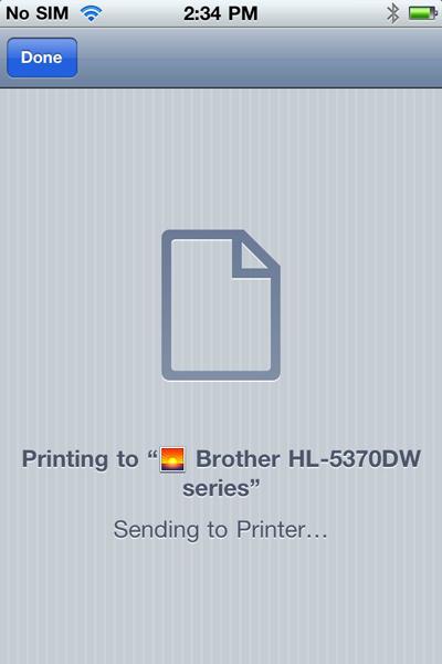 AirPrint printing