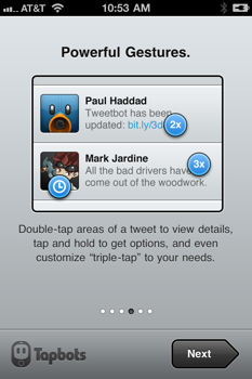 Tweetbot triple tap