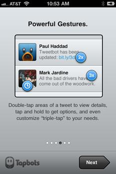 Tweetbot triple tap