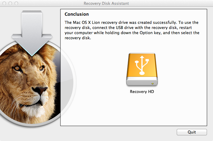 Lion Recovery USB Key