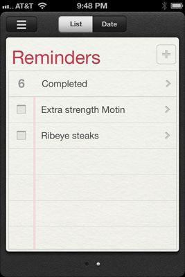 Reminders app iOS 5