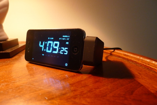 digital alarm clock on nightstand. kensington nightstand charging dock for iphone review digital alarm clock on