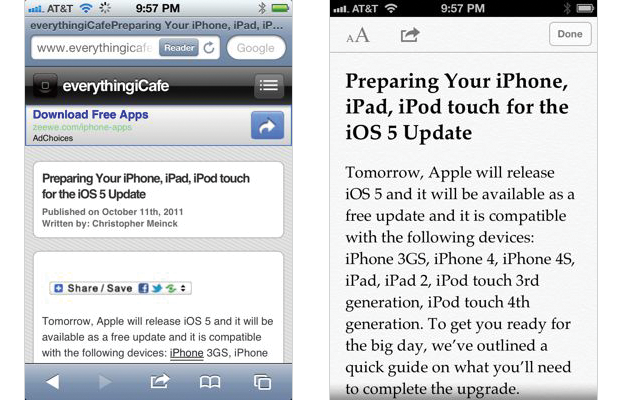 iOS 5 Reader