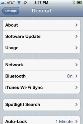 iTunes WiFi sync