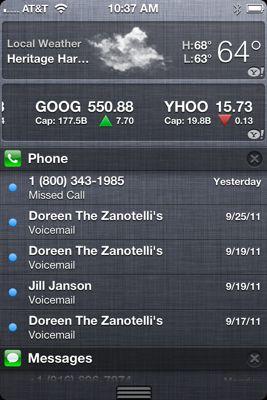 Notifications center iOS 5
