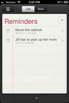 Reminders in iOS