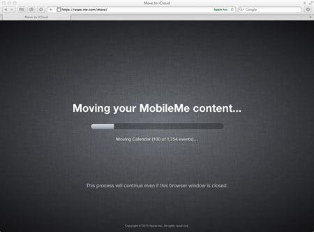 Moving your MobileMe content