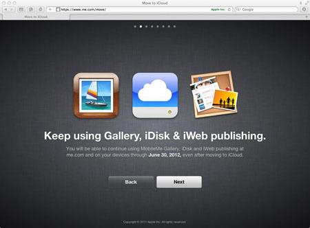 Gallery, iDisk, iWeb