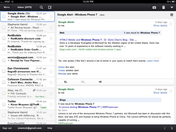 Gmail for iPhone, iPad