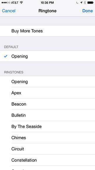 Select ringtone
