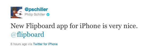 Phil Schiller tweet