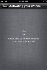 Activating new iPhone