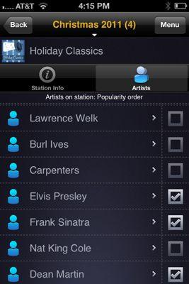 Holiday music artists