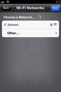 iPhone setup WiFi