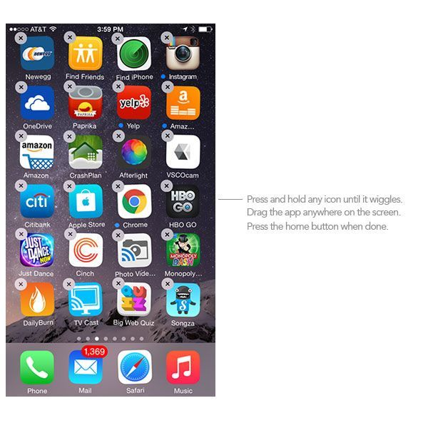 how to rearrange apps on iphone how to move and arrange icons on iphone 5274