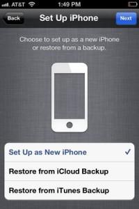 New iPhone setup options