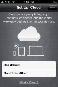 Set up iCloud