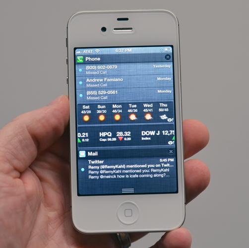 Notifications iOS 5