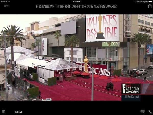 E! Now live from red carpet