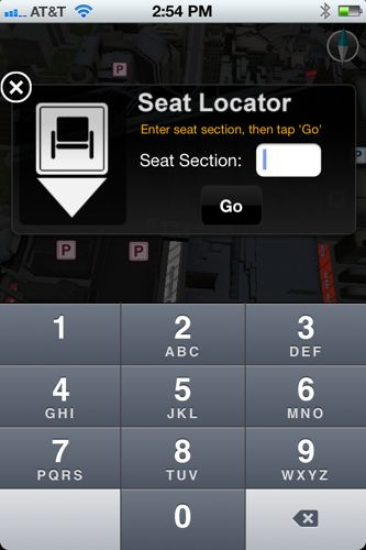 Super Bowl seating guide iPhone