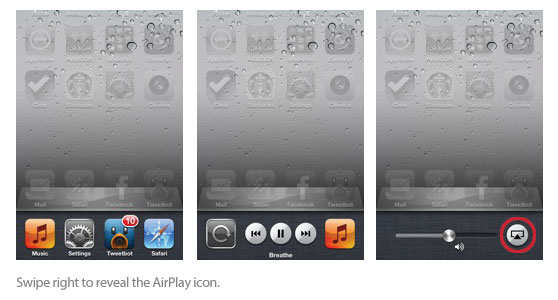 AirPlay settings iPhone
