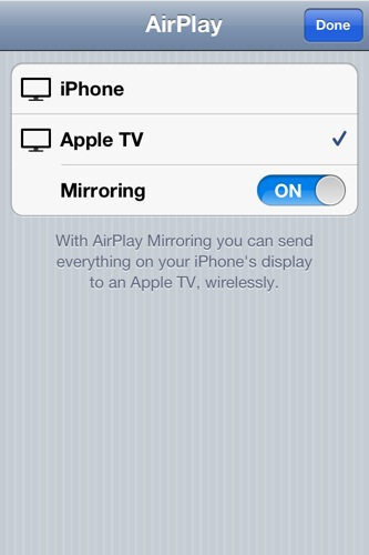 Apple TV Mirroring