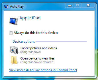 Auto-play connect iPad