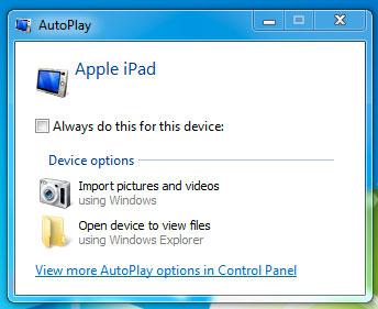 Auto-play connect iPad