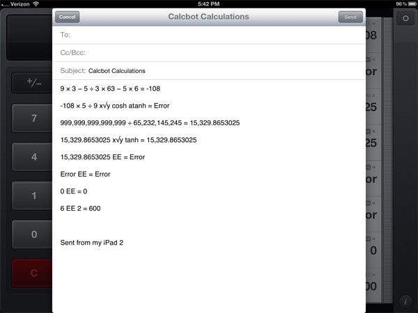 CalcBot retina display calculator