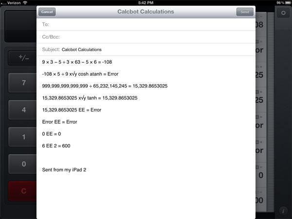 CalcBot retina display calculator