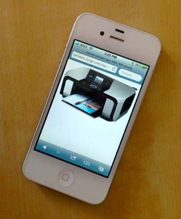 How to print from iPhone