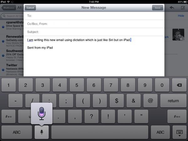 Siri-like Dictation on iPad