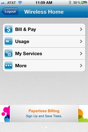 myAT&T iPhone app