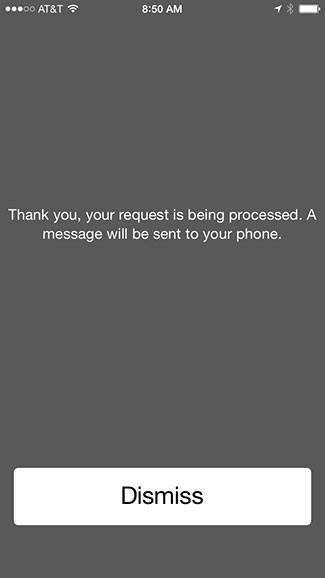 Request processed