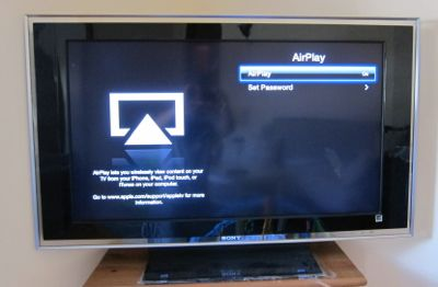 Setup AirPlay iPad Apple TV