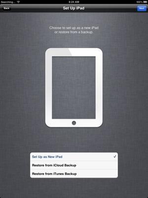 Setup iCloud new iPad