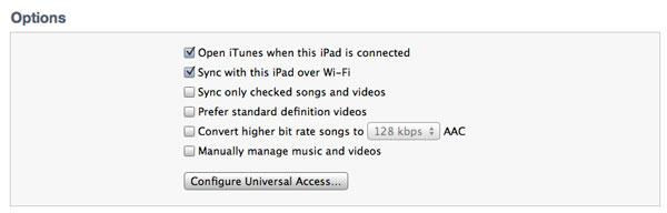 Sync Wifi iPad