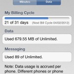track iPhone data usage