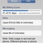 track iPhone data usage