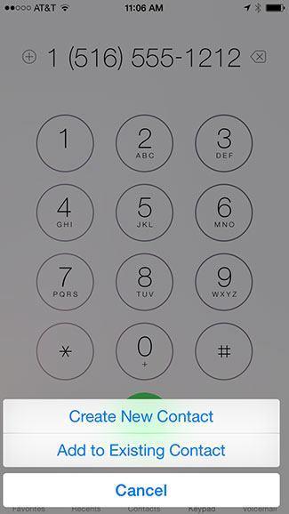 Create contact dialer