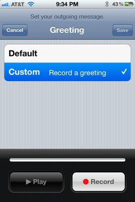 Create custom iPhone greeting