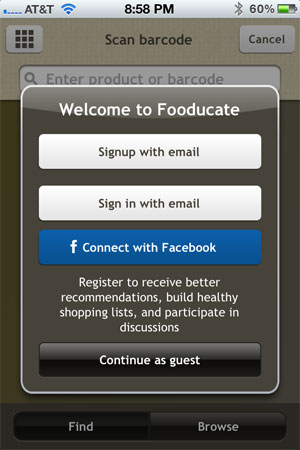 Fooducate for iPhone