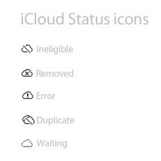 iCloud Status icons