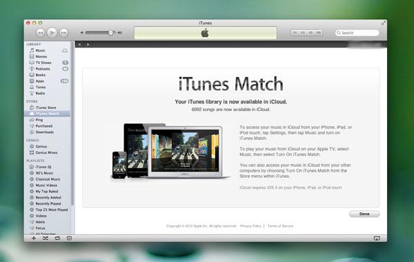 iTunes Match iCloud