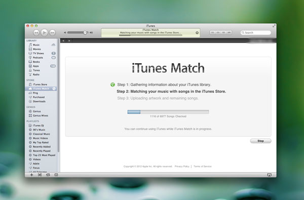 iTunes Match library